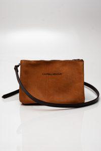sling bag zip tan