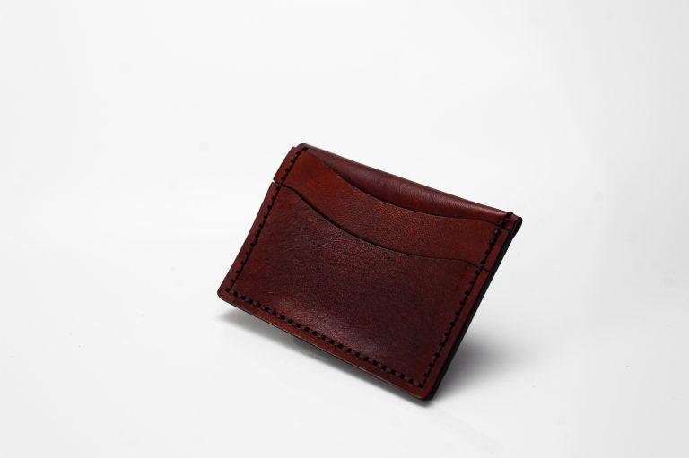 cardholder rust brown back