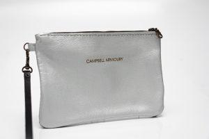 Wrist bag front Silver