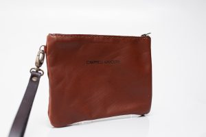 wrist bag Brown and dark brown front