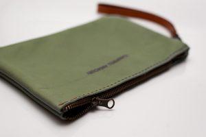 wrist clutch bag green top