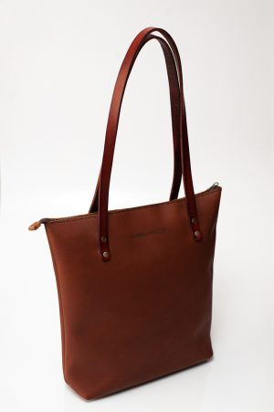 brushed totebag bag front rust on rust
