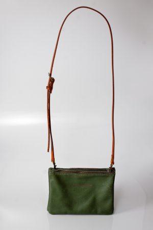double zip slingbag olive