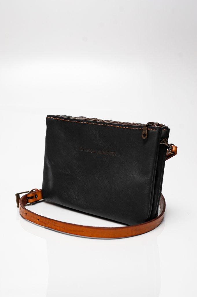 slingbag double zip black