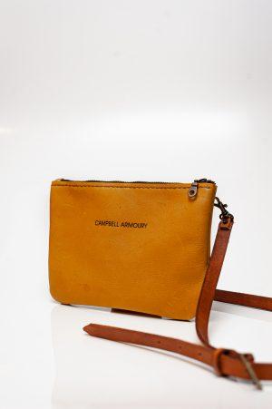 slingbag double zip mustard
