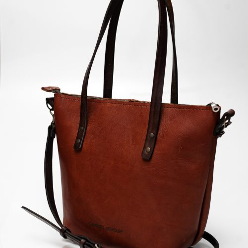 crossbody sling brown side