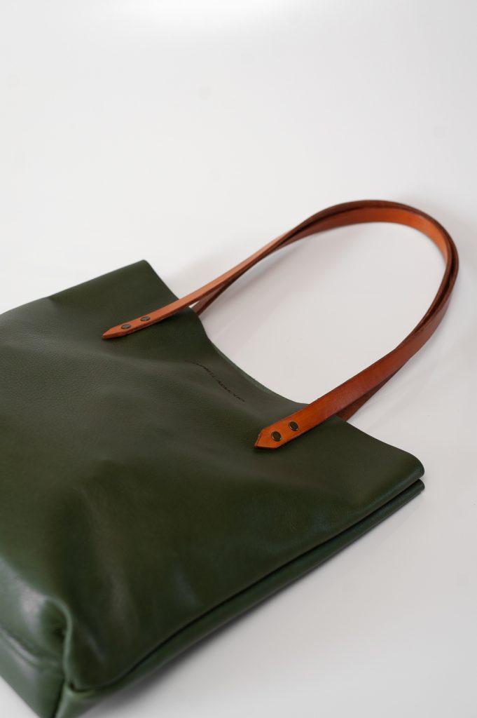 Totebag olive straps