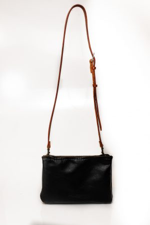sling bag zip black