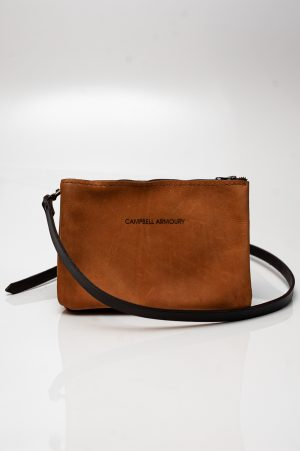 sling bag zip tan