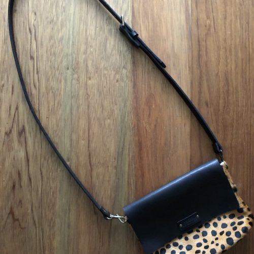 cheetah sling flap front