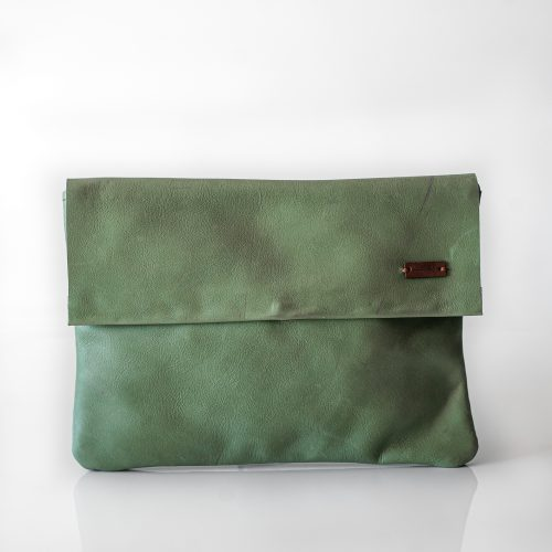 flap clutch bag mint 2